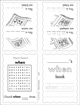 "The Sight Word ""when"" (Level 4) - Printable Worksheet"