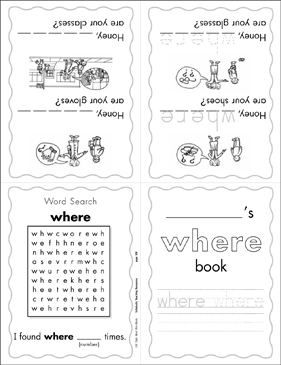 "The Sight Word ""where"" (Level 4) - Printable Worksheet"