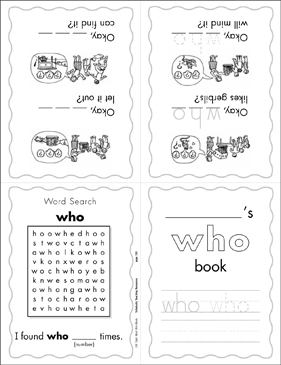 "The Sight Word ""who"" (Level 4) - Printable Worksheet"