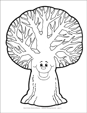 Winter Tree Reproducible Pattern - Image Clip Art