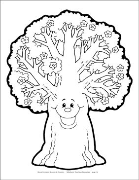 Spring Tree Reproducible Pattern - Image Clip Art