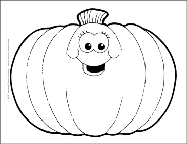 Smiling Pumpkin (B&W) Reproducible Pattern - Image Clip Art