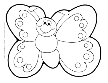 Butterfly with Smiley Face | Printable Clip Art and Images
