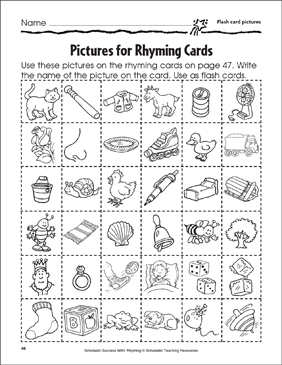 photograph about Printable Rhyming Cards named Rhyming Flashcards and Rhyming Wheel Printable Flash Playing cards