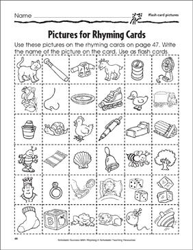 photograph regarding Rhyming Flash Cards Printable identify Rhyming Flashcards and Rhyming Wheel Printable Flash Playing cards