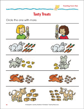 Tasty Treats (Counting/More Than) - Printable Worksheet