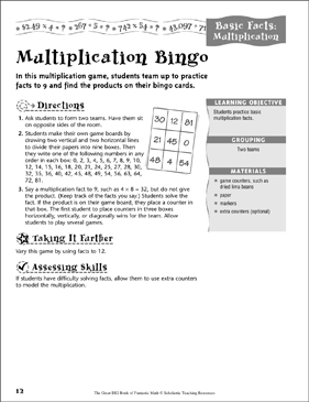 picture relating to Multiplication Bingo Printable identify Multiplication Bingo Printable Game titles, Puzzles, Lesson