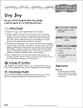 Toy Joy (Probability of a Simple Event) - Printable Worksheet