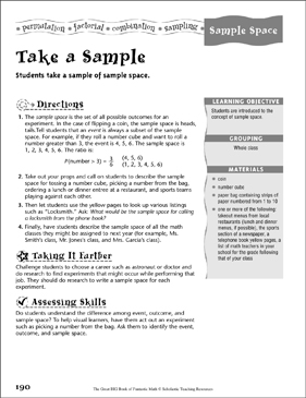 Take a Sample (Sample Space ) - Printable Worksheet