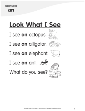 look what i see poem for sight word an printable skills sheets. Black Bedroom Furniture Sets. Home Design Ideas