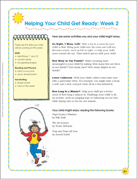 Week 2: Summer Express Between K and 1 - Printable Worksheet