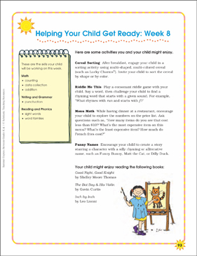 Week 8: Summer Express Between K and 1 - Printable Worksheet
