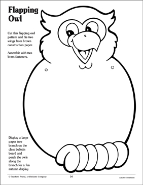 Flapping Owl Pattern - Printable Worksheet