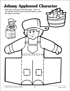 Johnny Appleseed Pattern - Printable Worksheet