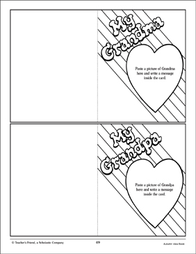 Grandparents' Day Cards: Craft Activity - Printable Worksheet