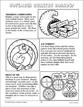 November Bulletin Board Ideas And Turkey Pattern Printable Boards Arts Crafts