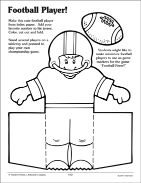 Football Player and Cheerleader Patterns - Printable Worksheet