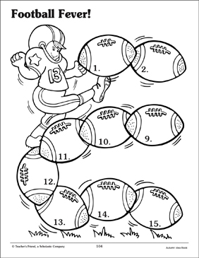 Football Fever Board Game - Printable Worksheet
