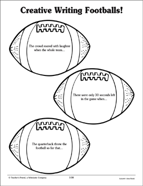 Football-Themed Creative Writing Prompts - Printable Worksheet