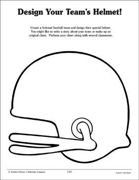 Football Helmet Pattern - Printable Worksheet