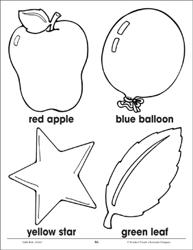 What Color Is It? | Printable Coloring Pages