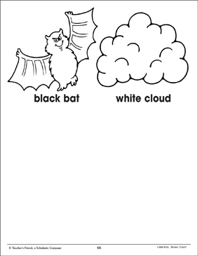 Black & White (Coloring Corresponding Pictures) - Printable Worksheet
