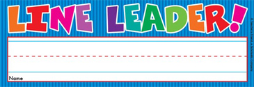 Line Leader! (Fill in Name) - Image Clip Art
