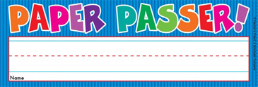 Paper Passer! (Fill in Name) - Image Clip Art