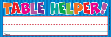 Table Helper! (Fill in Name) - Image Clip Art