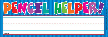 Pencil Helper! (Fill in Name) - Image Clip Art