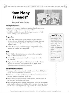 How Many Friends? Early Concepts - Printable Worksheet