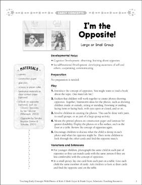 I'm the Opposite! Early Concepts - Printable Worksheet