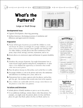 What's the Pattern? Early Concepts - Printable Worksheet