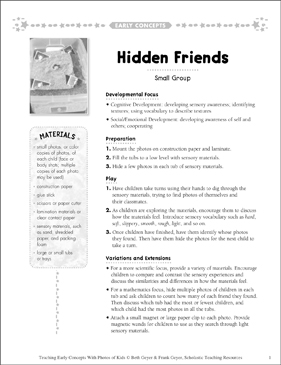 Hidden Friends: Early Concepts - Printable Worksheet
