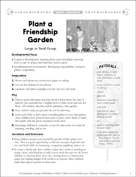 Plant a Friendship Garden: Early Concepts - Printable Worksheet