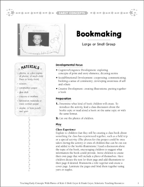 Bookmaking: Early Concepts - Printable Worksheet