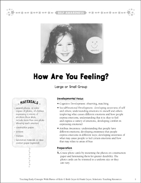 How Are You Feeling? Early Concepts - Printable Worksheet