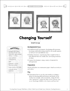 Changing Yourself Early Concepts - Printable Worksheet
