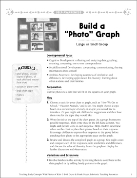 "Build a ""Photo"" Graph: Early Concepts - Printable Worksheet"