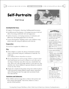 Self-Portraits: Early Concepts - Printable Worksheet