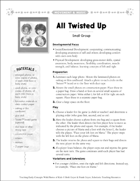 All Twisted Up: Early Concepts - Printable Worksheet