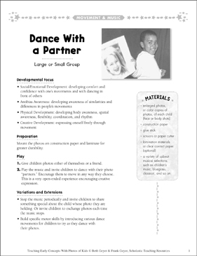 Dance With a Partner: Early Concepts - Printable Worksheet