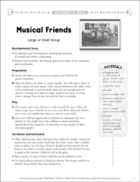 Musical Friends: Early Concepts - Printable Worksheet