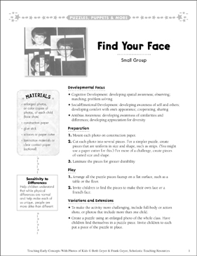Find Your Face: Early Concepts - Printable Worksheet