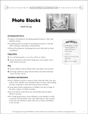 Photo Blocks: Early Concepts - Printable Worksheet