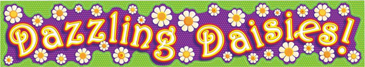 Dazzling Daisies! - Image Clip Art