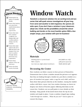Window Watch: Science Center - Printable Worksheet