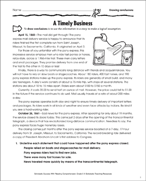 A Timely Business (Drawing Conclusions) - Printable Worksheet