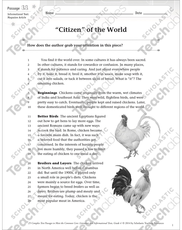 "Citizen"" of the World: Text & Questions 