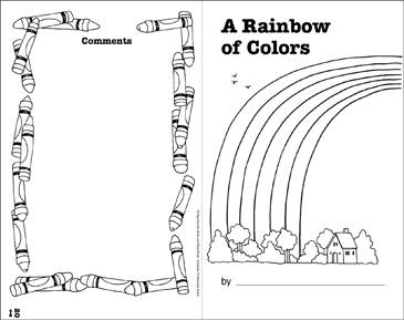 A Rainbow of Colors: Write-and-Read Book - Printable Worksheet